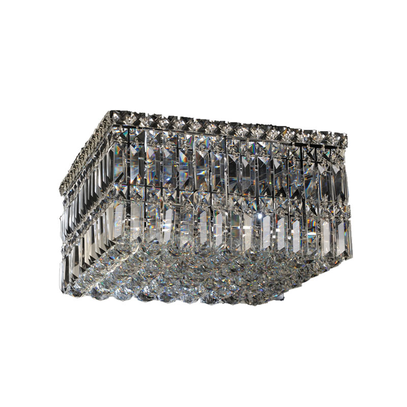 Square Crystal Ceiling Fitting - Small