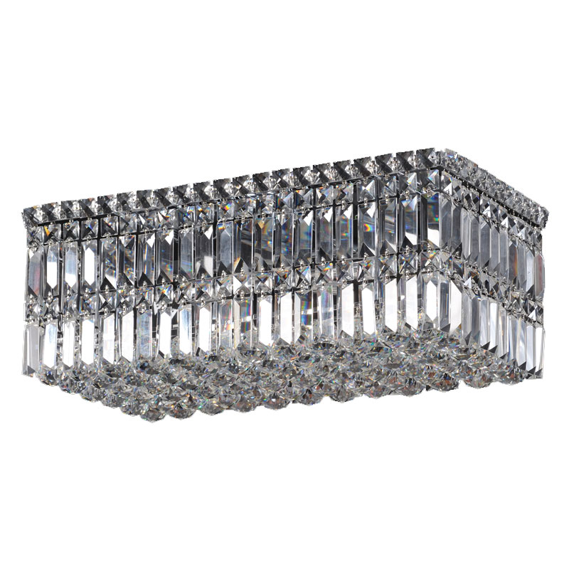 Rectangular Crystal Ceiling Fitting - Small